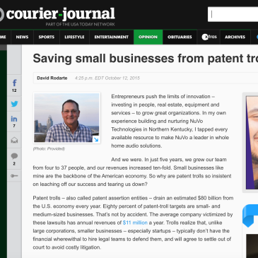 Saving Small Businesses From Patent Trolls